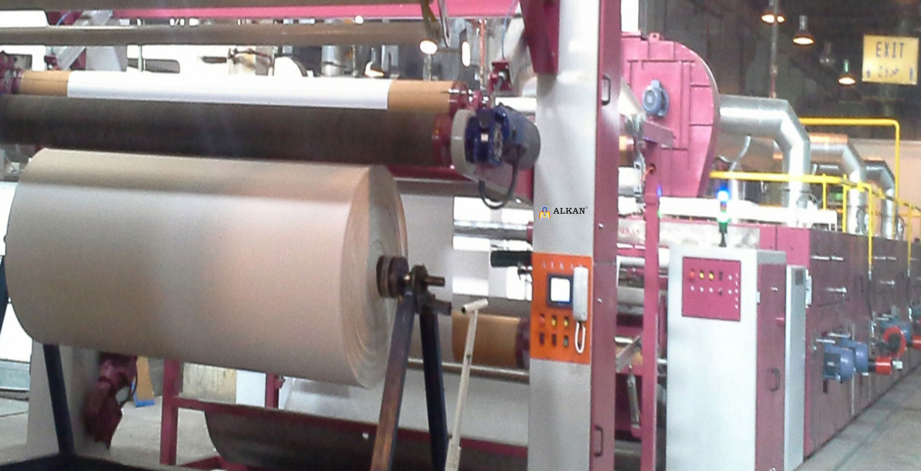 Alkan Stenter Machine for Woven Fabrics, Turkey.