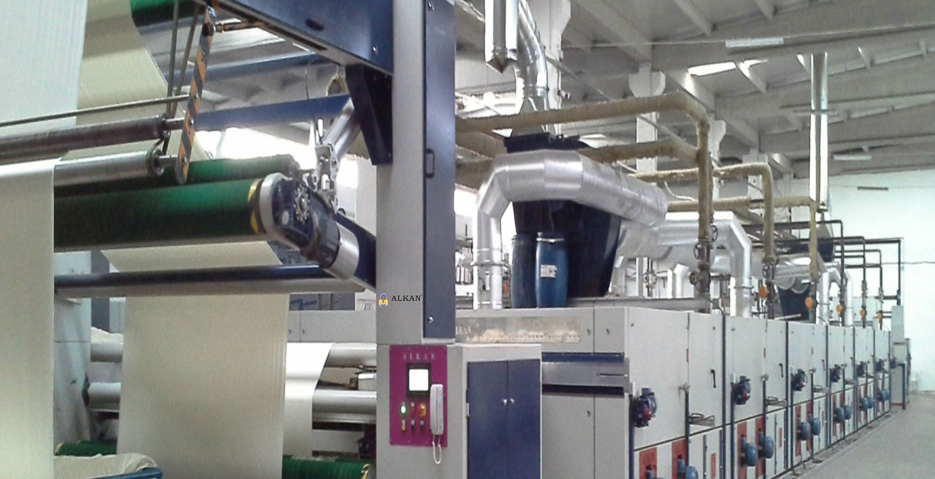 Alkan Stenter Machine for Knitting Fabrics, Turkey.